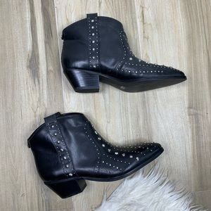 NEW Brian's Leather Western Ankle Bootie Size 8.5